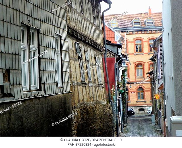 The old town of Muehlhausen in the state of Thuringia in Germany, 13 January 2017. The first historical record of the town appears in a document attributed to...