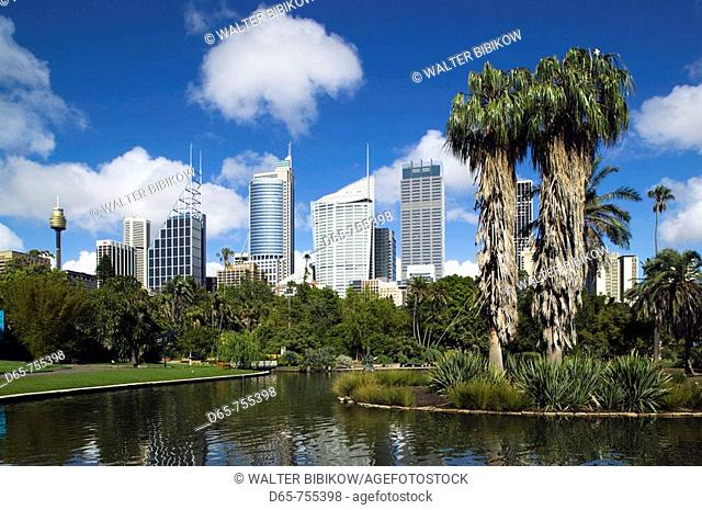 Australia - New South Wales (NSW) - Sydney: Sydney Central Business District from Royal Botanic Gardens in the morning