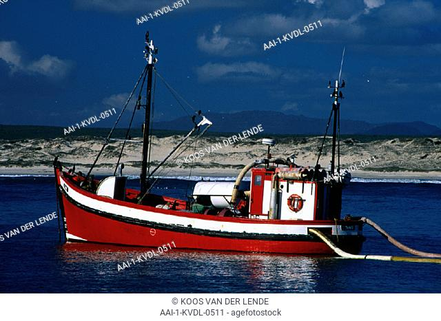 Boat sifting for diamonds, Port Nolloth, Northern Cape, South Africa