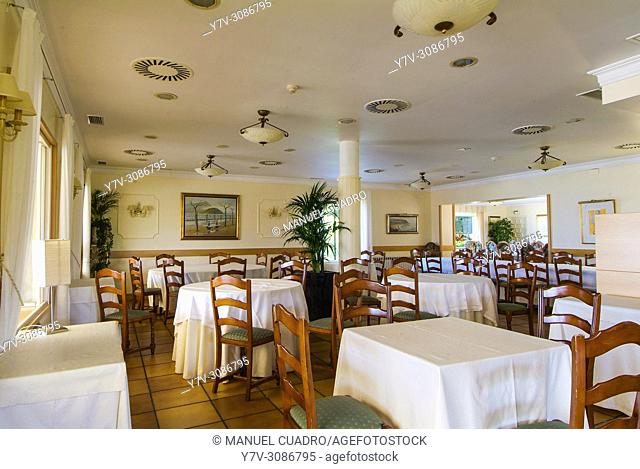Dining room. Restaurante Mirador de Ulía. San Sebastián-Donostia, Guipuzcoa, Basque Country, Spain