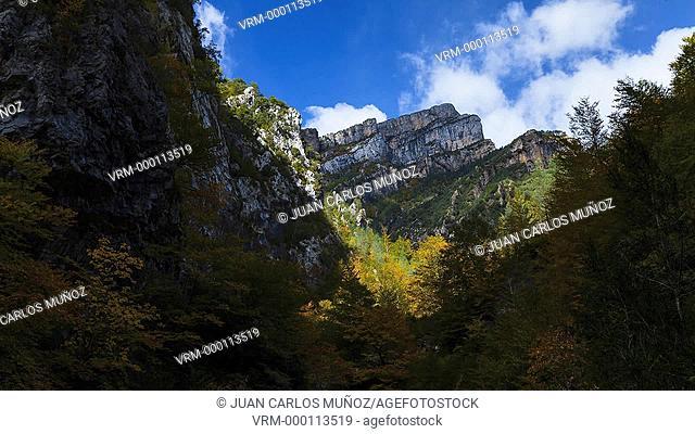 Autumn in Ordesa, Ordesa National Park, Añisclo Canyon, Huesca, Spain