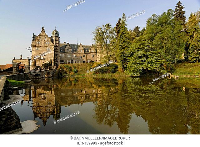 Castle Haemelschenburg Haemelschenburg near Emmerthal in the Weser region between Bad Pyrmont and Hameln moated castle Lower Saxony Germany