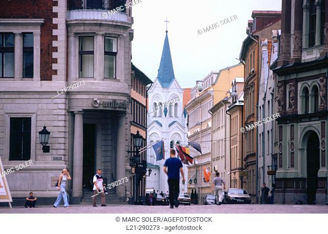 Doma Laukums (Cathedral Square). Riga, Latvia