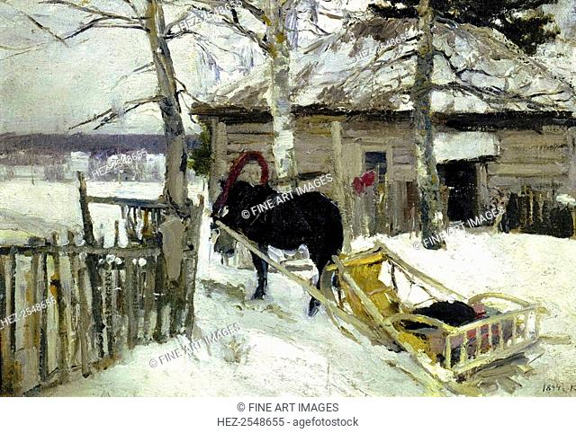 'Winter', 1894. Found in the collection of the State Tretyakov Gallery, Moscow