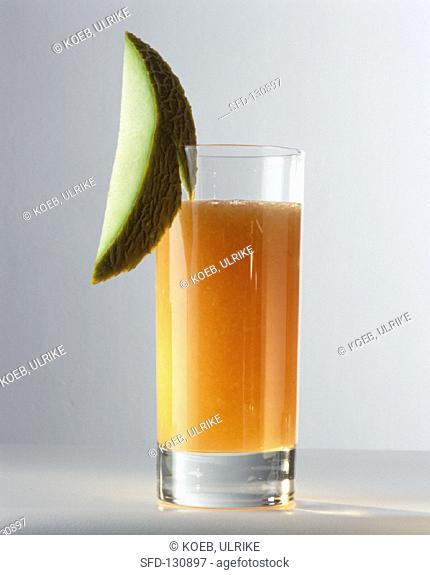 A glass of melon juice