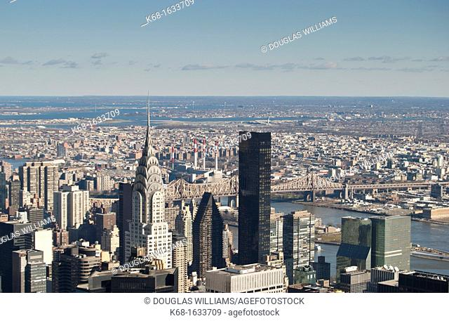 View from the top of the Empire State Building, Manhattan, New York City, New York, USA