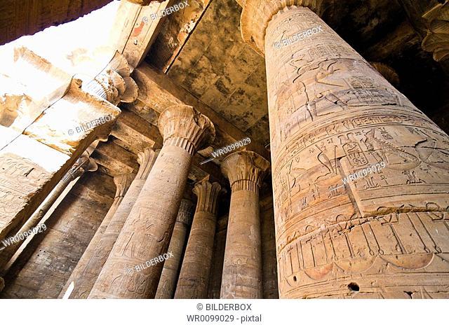 Africa, Egypt, Edfu, Horus Tempel, impressive building from the Ptolemaic period