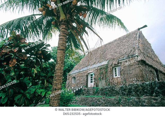 Residence of the chief of Ovalu Island in Levuka. Ovalu. Fiji