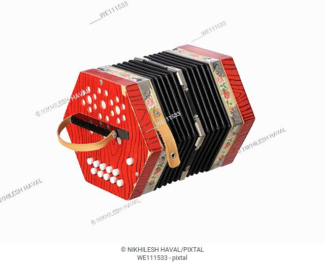 Red small accordion