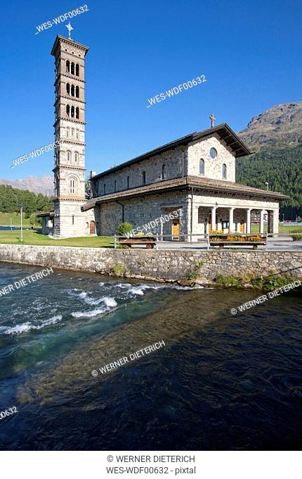 Switzerland, Grisons, Engadin, St. Moritz, St. Karl's Church