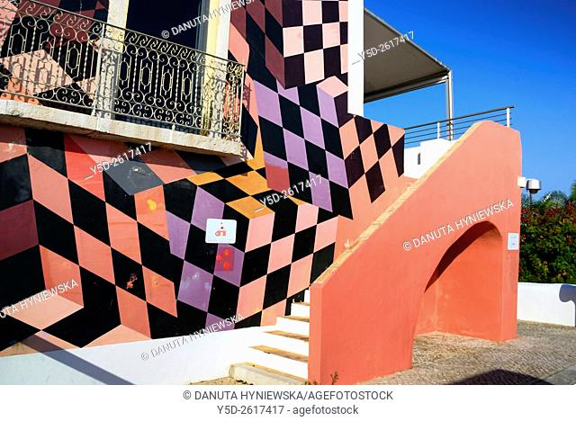 Europe, Portugal, Algarve, Faro district, Lagos, facade of Ciencia Viva - National Agency for Culture Science and Technology near fish market