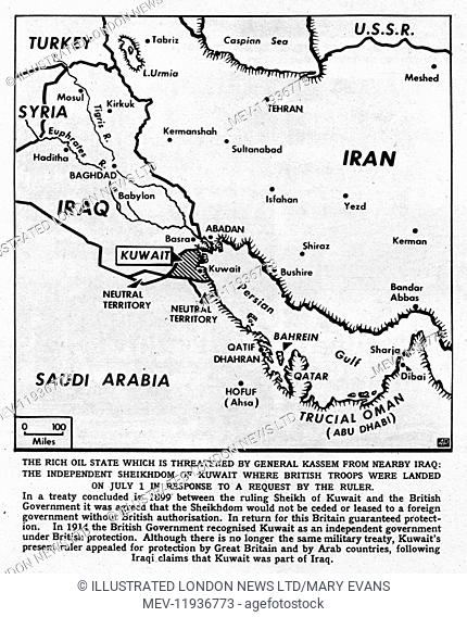 Page from The Illustrated London News with the weekly feature Our Notebook written by Arthur Bryant commenting on the situation in Kuwait in 1961