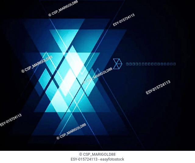 Elegant Geometric Blue Background
