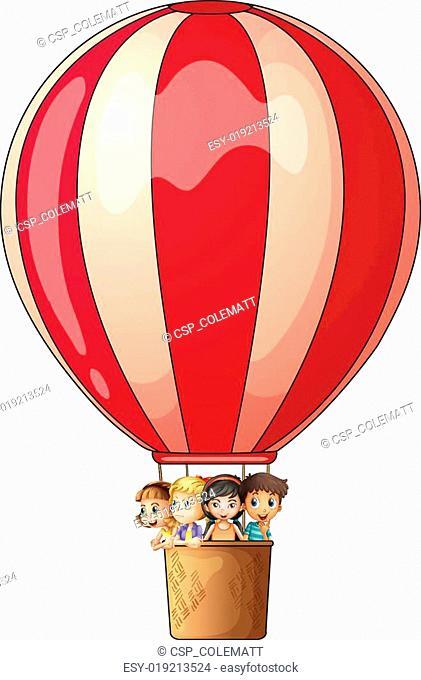A stripe air balloon