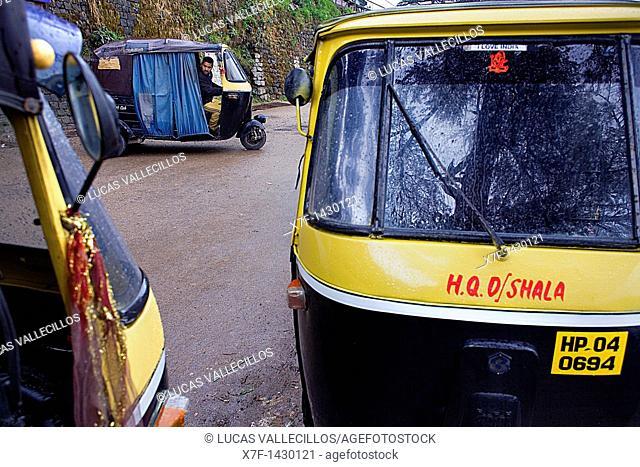 Tuk Tuk transport  McLeod Ganj, Dharamsala, Himachal Pradesh state, India, Asia