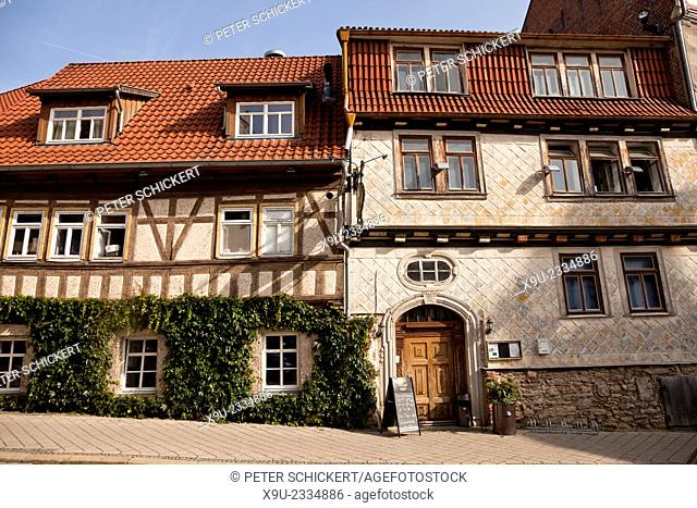 TimberFrame houses, Mühlhausen, Unstrut-Hainich district, Thuringia, Germany