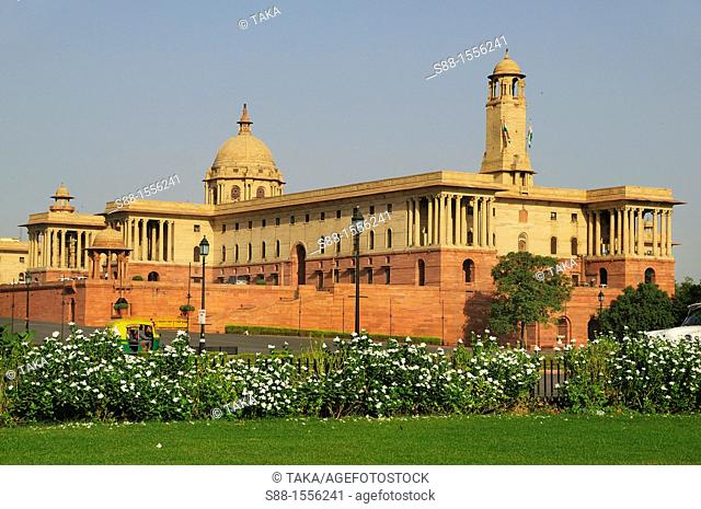 In the morning at Parliament house in New Delhi