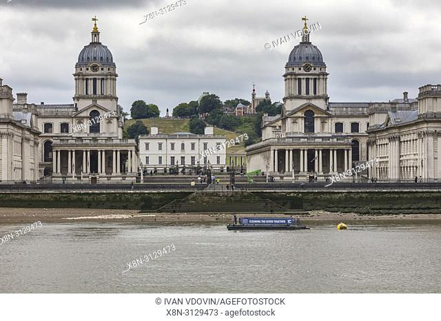 Old Royal Naval College, Greenwich, London, England, UK