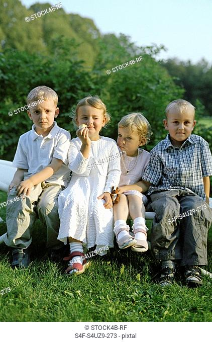 Your Children on a Lawn Seat - Childhood - Family Celebration - Garden