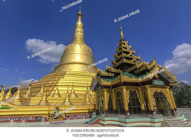 Shwemawdaw Pagoda, Bago, Myanmar, Asia