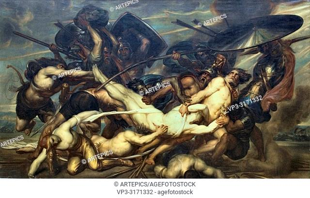 Wiertz Antoine - Greeks and Troyans Fighting for the Corpse of Patroklos 1