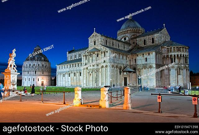 Cathedral of Pisa-night view