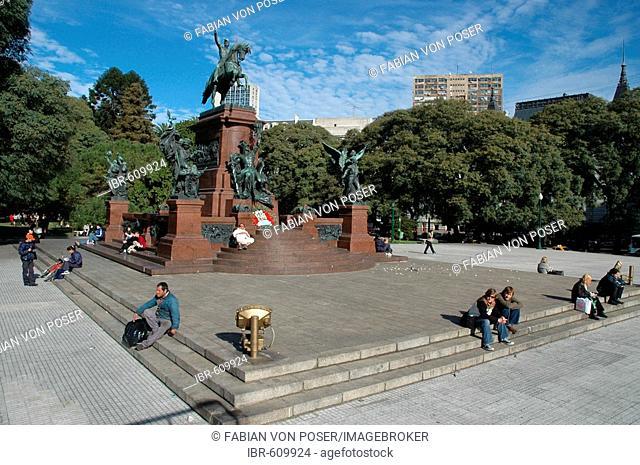 Monument for General San Martín at Plaza San Martín, Buenos Aires, Argentina