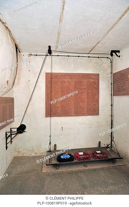 Crematorium at Natzweiler-Struthof, the only concentration camp established by the Nazis on French territory, Alsace, France