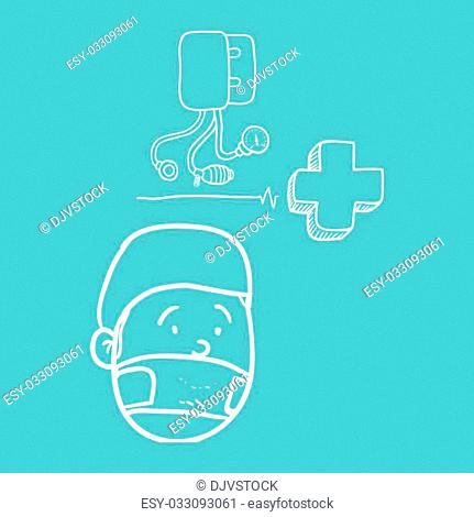 Medial care concept with icon design, vector illustration 10 eps graphic