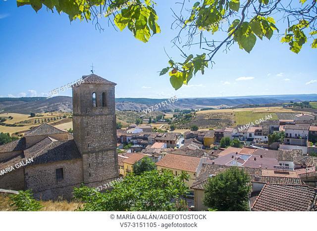 Overview from Santa Maria chuchr. Cogolludo, Guadalajara province, Castilla La Mancha, Spain