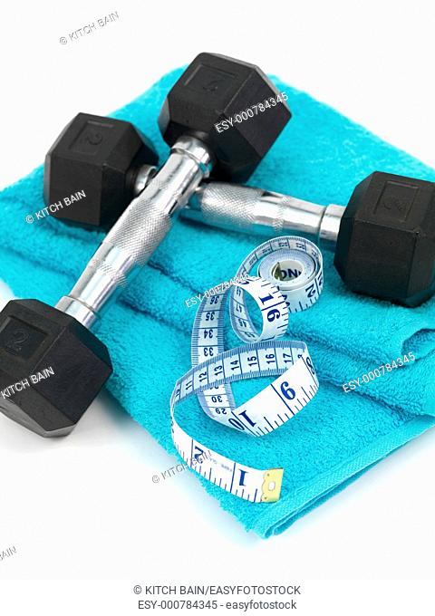 Exercise equipment isolated against a white background