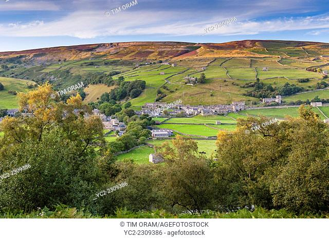 The village of Gunnerside , Swaledale in the Yorkshire Dales in Yorkshire , England , Britain , Uk
