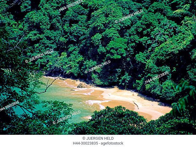Tobago, Englishman's bay, beach,bird's eye view