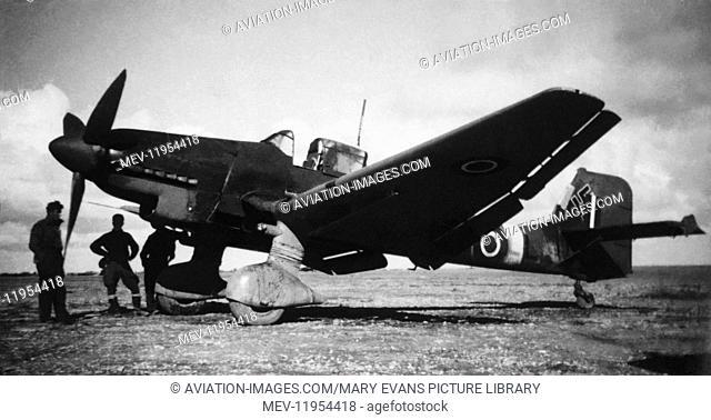 Captured Luftwaffe Junkers Ju-87 Stuka During WW2 with RAF Marking