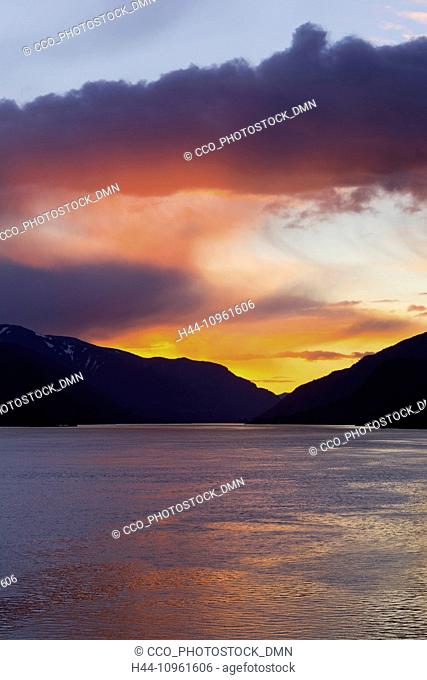 sunset, Oregon, OR, USA, America, United States, WA, Washington, USA, America, United States, Columbia River Gorge, Columbia River, river, Columbia River Gorge