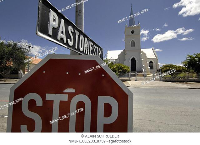 Close-up of a stop sign, Prince Albert, Little Karoo, Karoo, Western Cape Province, South Africa