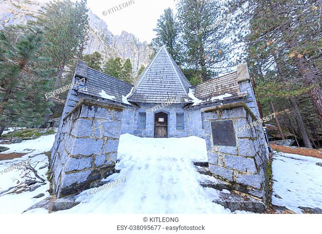 The famous LeConte Memorial Lodge of Yosemite, morning