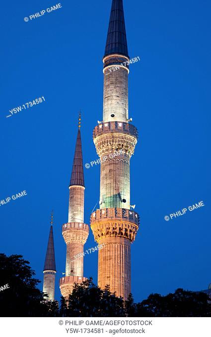 Minarets of the Blue Mosque, Sultanahmet, Istanbul