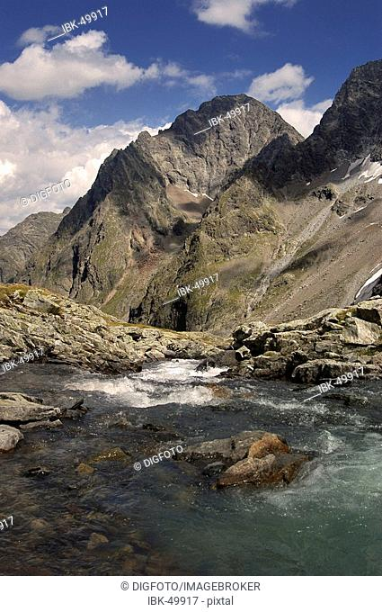 Mountain torrent, national park Hohe Tauern, Austria