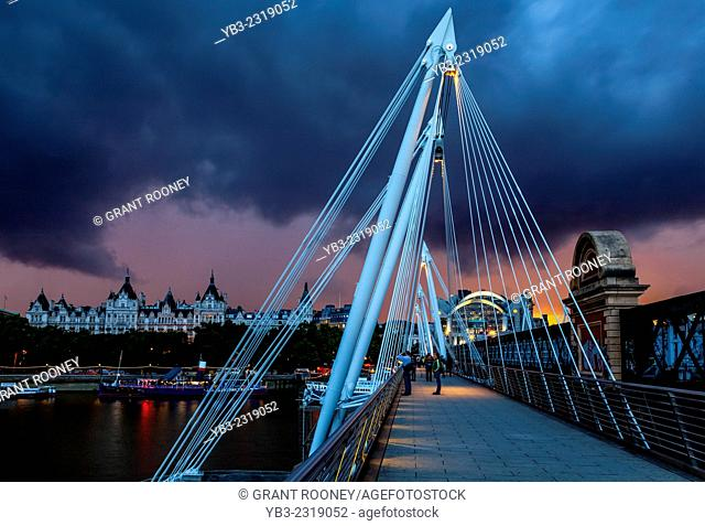 The Golden Jubilee Bridges, London, England