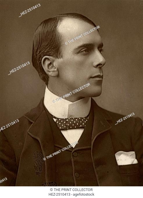 Edward Smith Willard, British actor, 1888. A photograph from The Theatre, A Monthly Review, Volume XI, January to June, 1888, Strand Publishing Company, London