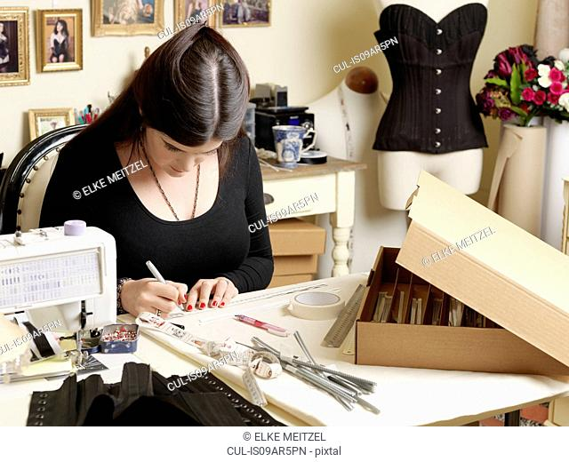 Corset maker working