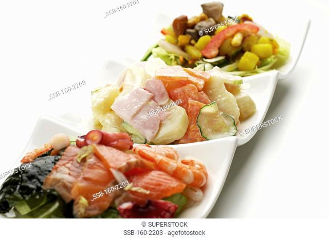 Three kinds of salads