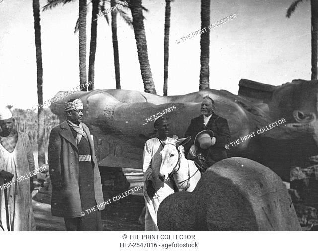 Fallen monumental statue of Rameses II, Memphis, Egypt, c1890. Rameses II is regarded as possibly the greatest Pharaoh of Ancient Egypt
