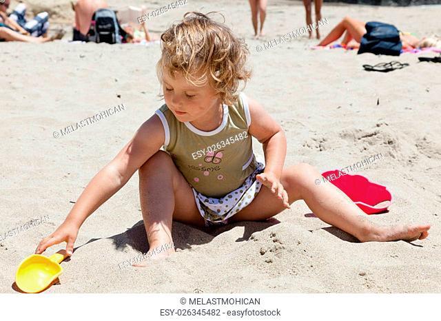 Sunday afternoon on the beach in Santa Cruz, California