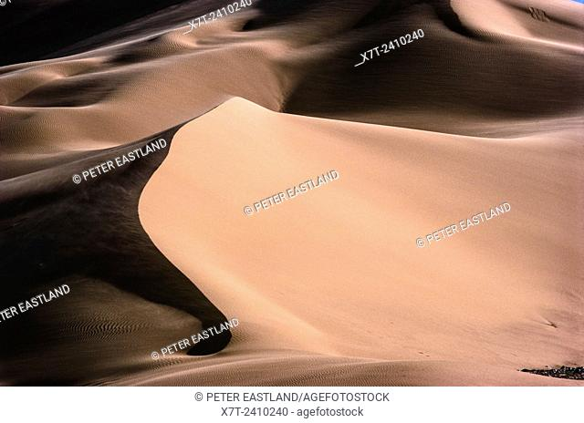 Sand dunes of the Grand Erg Occidental near Taghit in North west Algeria