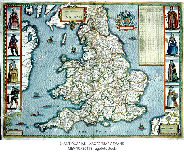 17th century Map of England and Wales