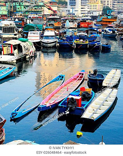 Aberdeen - famous to tourists destinaton for its floating village.Hong Kong