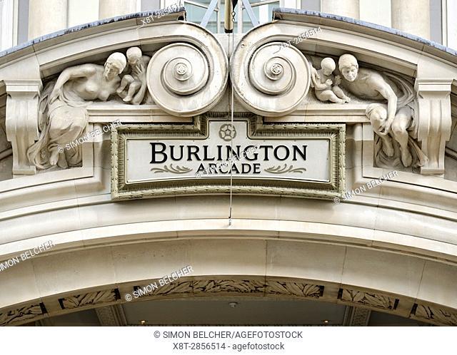 Burlington Arcade, Piccadilly, London, UK