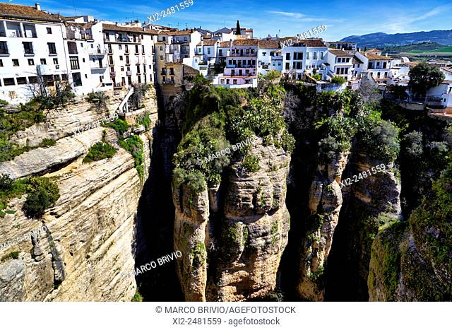 'El Tajo', the canyon of Ronda, Malaga province, Andalusia, Spain